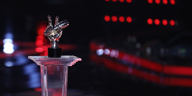 """THE VOICE -- """"Live Finale"""" Episode 1321B -- Pictured: The Voice Trophy -- (Photo by: Tyler Golden/NBC)"""