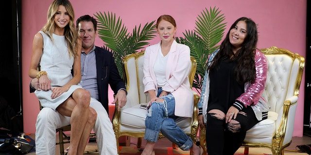 "From l-r: ""Southern Charm"" stars Ashley Jacobs and boyfriend Thomas Ravanel with ""Morning Toast"" hosts Jackie Oshry and Claudia Oshry, right."