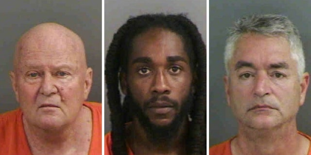 From left, Peter Bradshaw, William Darmoh and Howard Cornibe were also arrested in the prostitution sting Friday, Feb. 9, 2018.