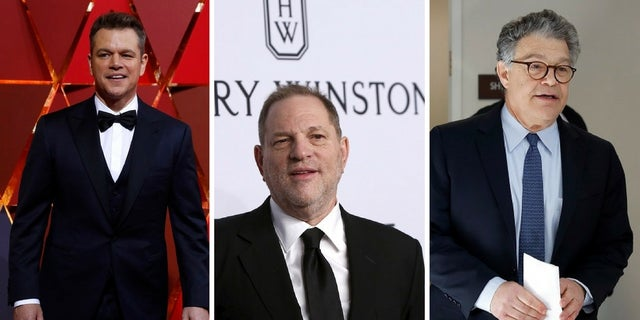 "Matt Damon said Harvey Weinstein and Al Franken ""do not belong in the same category"" in regards to sexual misconduct allegations against them."