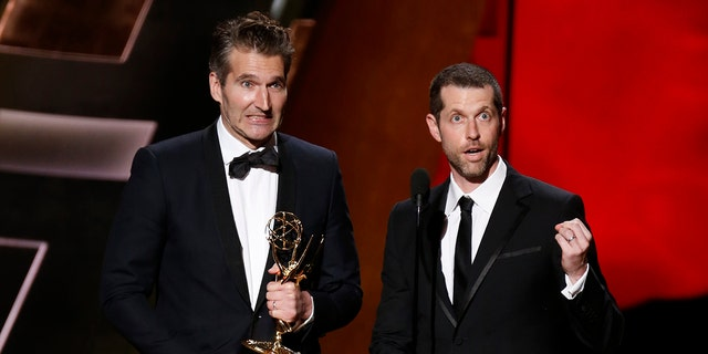 'Game of Thrones' creators David Benioff and D.B. Weiss at the 67th Primetime Emmy Awards