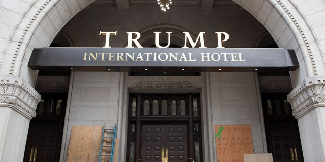 FILE 2016: The Trump International Hotel in D.C. is housed in the Old Post Office building down the street from the White House, has seen a burst of activity since opening its doors last fall.