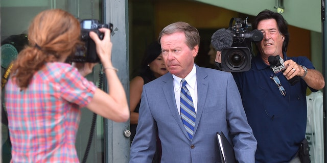Aug 9, 2017; Palm Beach Gardens, FL; Attorney Douglas Duncan leaves the North County Courthouse after appearing in court without his client Tiger Woods.