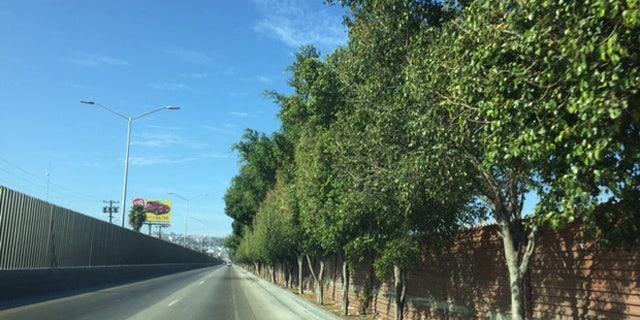 This road runs along the Mexican border near Tijuana.