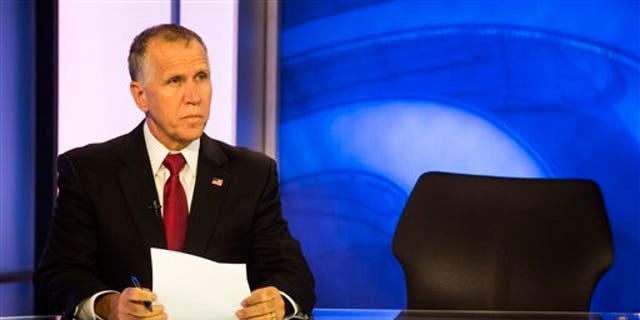 Oct. 21, 2014: State Speaker of the House, Thom Tillis, prepares to answer questions during a live televised roundtable.