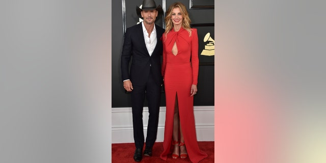 Tim McGraw and Faith Hill attend the 2017 Grammys.