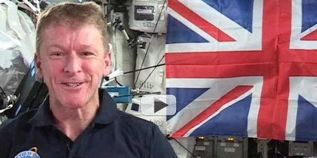 """British astronaut Tim Peake says he might be the first person to have said """"God save the queen"""" in space."""