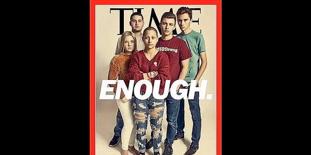 Five teenagers who survived a deadly Florida school shooting appear on TIME Magazine's latest cover, the publication revealed in a Thursday tweet.