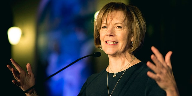 Minnesota Lt. Gov. Tina Smith speaking in St. Paul, Minn., in January 2015.