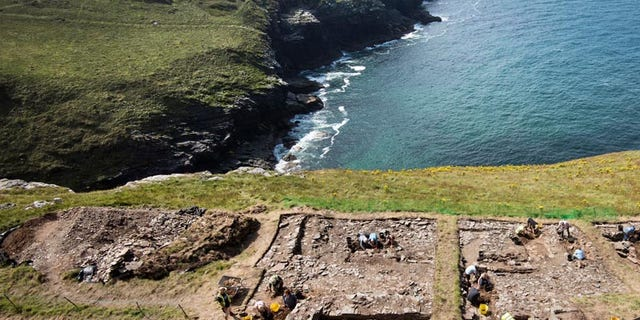 Excavations at the Tintagel site (English Heritage)
