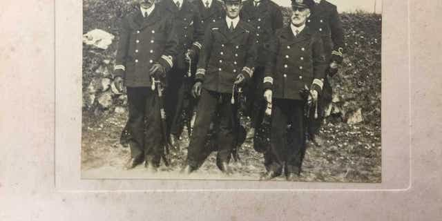A picture of the men who ate the first meal on board the Titanic.