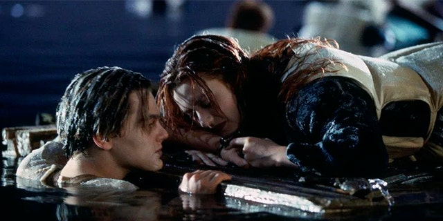 """Jack, played by Leonardo DiCaprio, and Rose, played by Kate Winslet, in """"Titanic."""""""