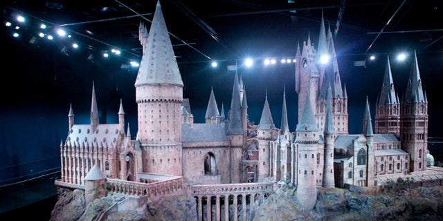 Hogwarts castle model.