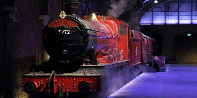 The Hogwarts Express on platform nine and three-quarters.