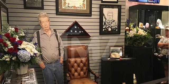 A shrine for Richard 'Old Man' Harrison was set up at the Gold and Silver.