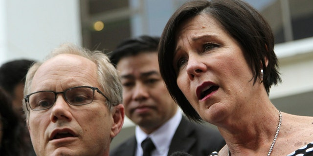 May 15, 2013: Rick and Mary Todd, parents of late American software engineer Shane Truman Todd,  leave the Subordinate Courts of Singapore in Singapore. (AP/Wong Maye-E)
