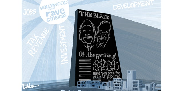 By all accounts, this editorial cartoon drew the ire of Allan and John Block, the Toledo-born brothers who own the Toledo Blade.