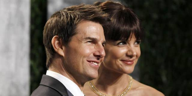 Tom Cruise and then-wife Katie Holmes.