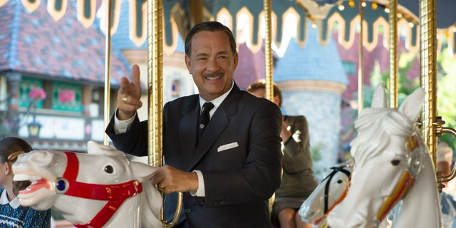 """This image released by Disney shows Tom Hanks as Walt Disney in a scene from """"Saving Mr. Banks."""""""
