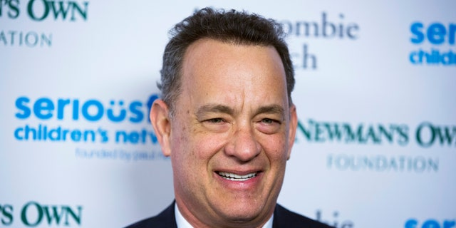 """March 2, 2015. Tom Hanks arrives for """"An Evening of Serious Fun Celebrating the Legacy of Paul Newman"""" event in New York."""