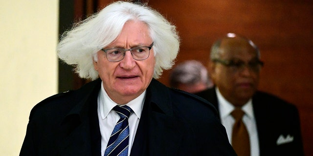 Tom Mesereau, lawyer for actor and comedian Bill Cosby, arrives for Cosby's sexual assault trial at the Montgomery County Courthouse, Wednesday, April 25, 2018, in Norristown, Pa.