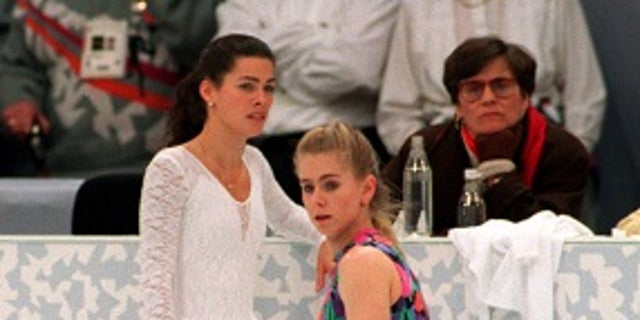 Tonya Harding denied she was involved in the attack on Nancy Kerrigan.