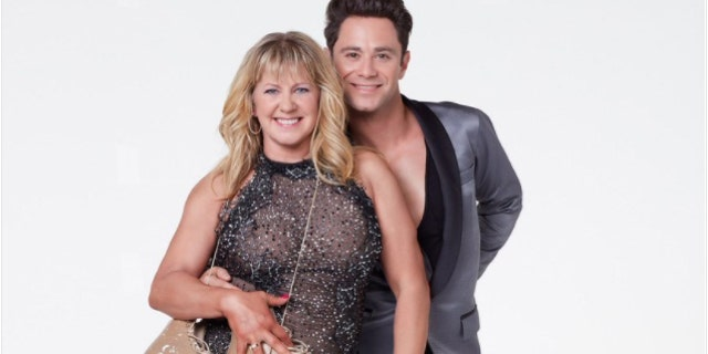 Harding with her dancing partner Sasha Farber on the ABC competition series.
