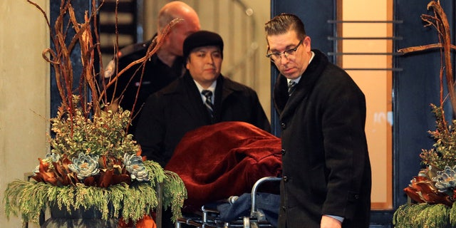 "One of two bodies is removed from the home of billionaire founder of Canadian pharmaceutical firm Apotex Inc., Barry Sherman and his wife Honey, who were found dead under circumstances that police described as ""suspicious"" in Toronto, Ontario, Canada, December 15, 2017."