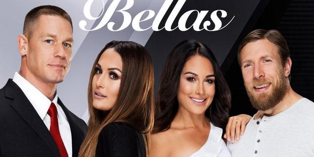 From l-r: John Cena, Nikki Bella, Brie Bella, Daniel Bryan.