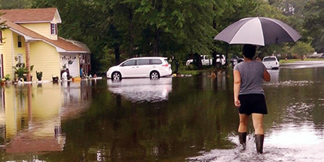 Tropical Storm Cindy brought some flooding to Ocean Springs, Miss. on Thursday, June, 22, 2017.