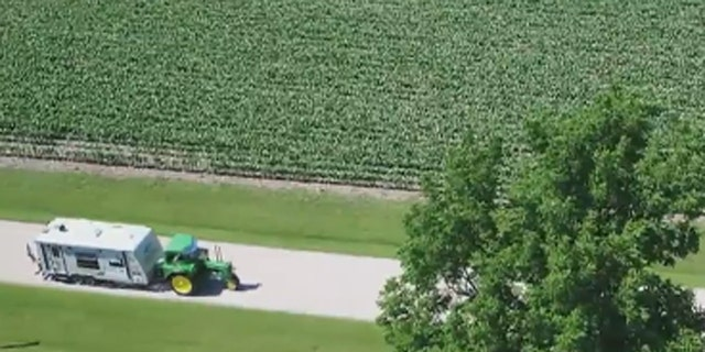 The retired farmer combined both of his dreams and decided to drive across the country in a custom, 1948 John Deere tractor to raise awareness and money for wounded heroes.