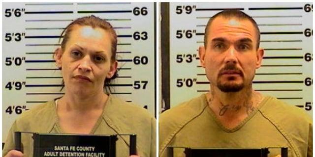 Mug shots for Tracy Pena, 35, and Thomas Ferguson, 42.