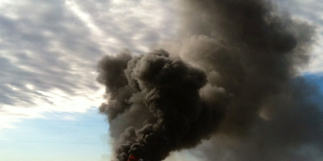 Two freight trains collided in a Texas city on Tuesday.