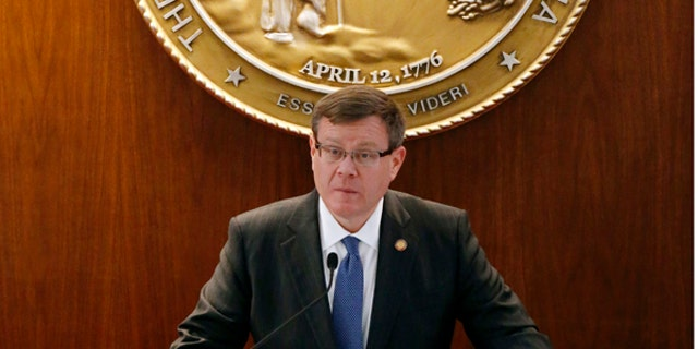North Carolina Speaker of the House Tim Moore is seen in December 2016