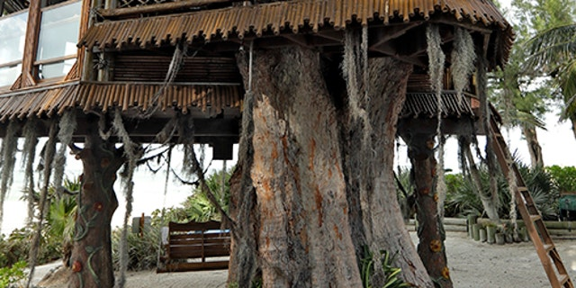 The tree house took six months and $30,000 to build. It also has a view of the Gulf of Mexico.