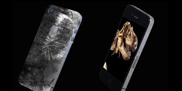 A new phone by Stuart Hughes features meteoric rock and dinosaur tooth.