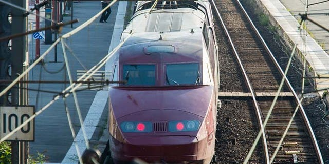 Aug. 21: A Thalys train of French national railway operator, SNCF, stands at the main train station in Arras, northern France, after a gunman opened fire injuring three people.