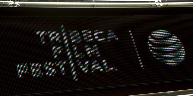 """The marquee is seen at world premiere of the film """"Live From New York"""" at the 2015 Tribeca Film Festival, in New York April 15, 2015. (REUTERS/Andrew Kelly)"""