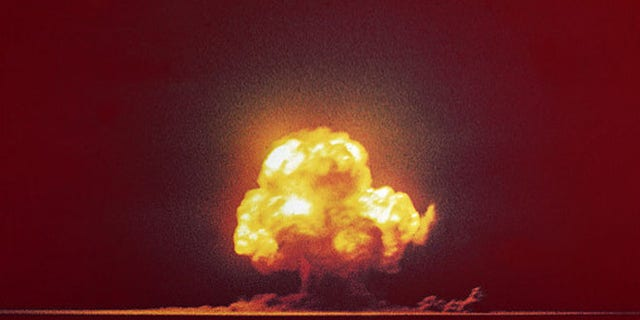 The 1945 Trinity Test, the world's first nuclear weapon test.