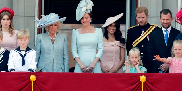 The royal family ends the annual celebration on the balacony of Buckingham Palace.