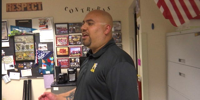 """""""I try to push everything that was instilled in the military to my students, so it'll help them not only in the classroom but later on in life,"""" said Frank Contreras, a 12-year Army veteran."""