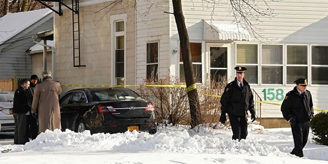 A property manager discovered the four victims murdered in a basement apartment in Troy, NY.