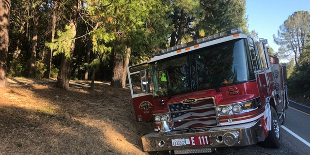 The stolen fire truck sustained damage, including a front wheel that was down to its rim.
