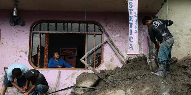 About 2,000 corpses in cemetery swept away by landslides in Peru's Trujillo.