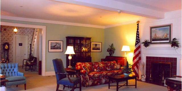 The interior of the Truman Little White House is simply decorated with furnishings from the '40s.