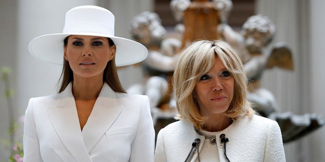 The fashionable first lady made headlines for donning a wide-brimmed hat by French-American designer Hervé Pierre, who also designed her inaugural gown.