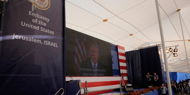 """President Trump said in prepared video remarks that the U.S. """"finally and officially recognizes Jerusalem as the capital of Israel."""""""