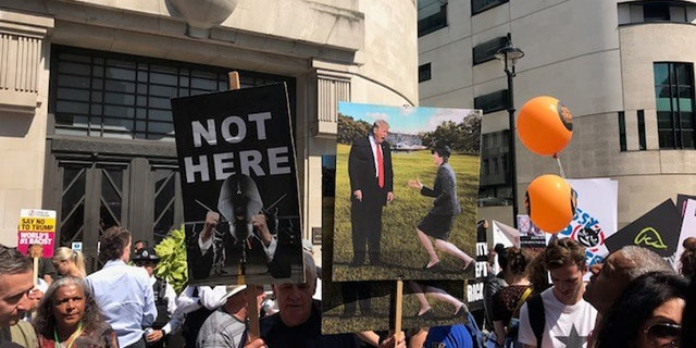 President Trump avoided central London, and scenes like this one, during his U.K. visit.