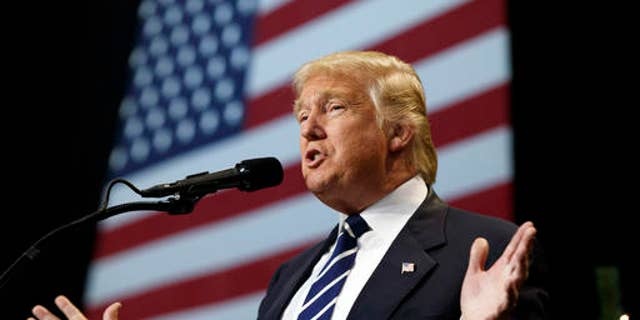 FILE -- In this Dec. 13, 2016, photo, President-elect Donald Trump speaks during a rally at the Wisconsin State Fair Exposition Center in West Allis, Wis.