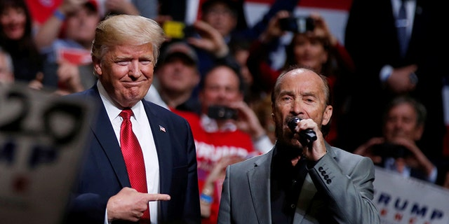 """President Trump tried to send birthday wishes to singer Lee Greenwood, who once sang his song """"God Bless the USA"""" at a Trump rally earlier this year."""